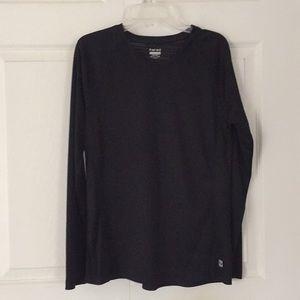 Hind kids black long sleeve active wear shirt L